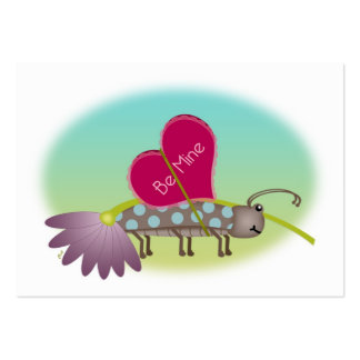 Small Bug Big LOVE Valentines Large Business Cards (Pack Of 100)