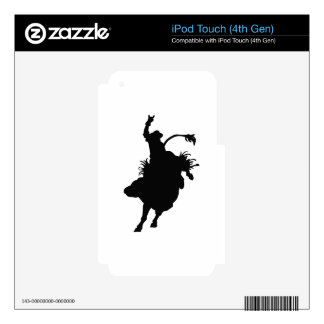 Small Bull Rider Decal For iPod Touch 4G