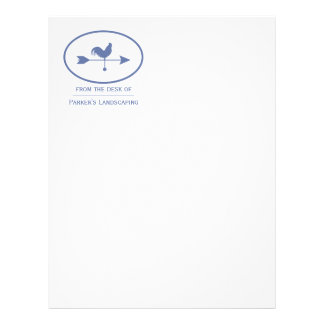 Small Business Blue Weathervane Letterhead