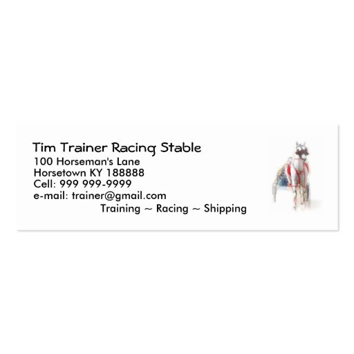 332 horse trainer business cards and horse trainer for Horse trainer business cards