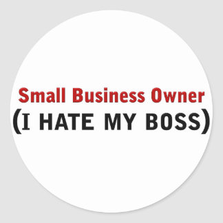 Small Business Owner Classic Round Sticker