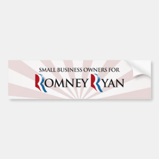 SMALL BUSINESS OWNERS FOR ROMNEY RYAN.png Bumper Sticker