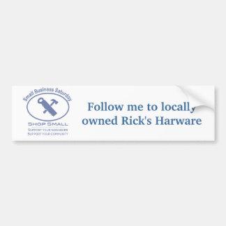 Small Business Saturday - Hardware blue Bumper Sticker