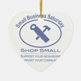 Small Business Saturday - Hardware blue Ceramic Ornament