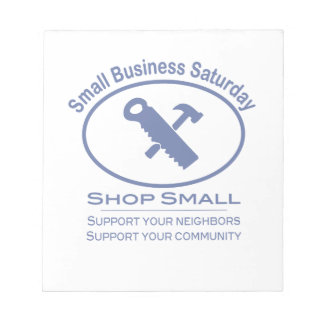 Small Business Saturday - Hardware blue Notepad