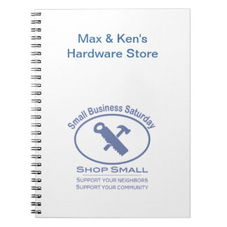 Small Business Saturday - Hardware blue Spiral Notebook