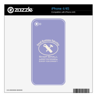 Small Business Saturday Hardware (white) iPhone 4 Decal