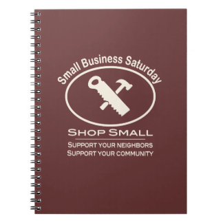 Small Business Saturday Hardware (white) Spiral Notebook
