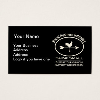 Small Business Saturday Ivory Weathervane Business Card