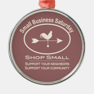 Small Business Saturday Ivory Weathervane Metal Ornament