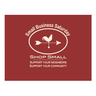 Small Business Saturday Ivory Weathervane Postcard