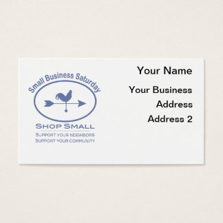 Small Business Saturday Weather vane Business Card