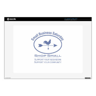"""Small Business Saturday Weather vane Decal For 15"""" Laptop"""