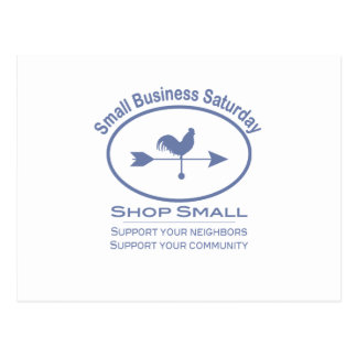 Small Business Saturday Weather vane Postcard