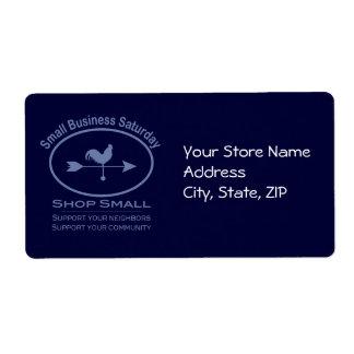 Small Business Saturday Weathervane (blue) Label