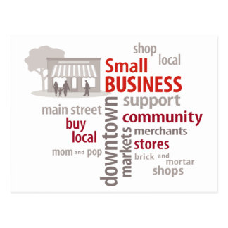 Small Business, Shop Local, Buy Local Postcard