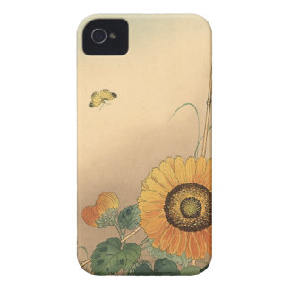 Small butterfly and sunflower by Ohara Koson Blackberry Bold Cover