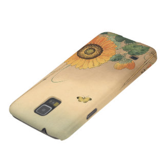 Small butterfly and sunflower by Ohara Koson Cases For Galaxy S5