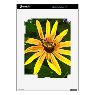 Small Butterfly on Flower Tablet Skin iPad 2 Skin