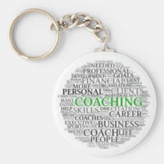 Small Button Coaching Keychain #1