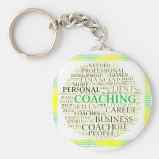 Small Button Coaching Keychain #11