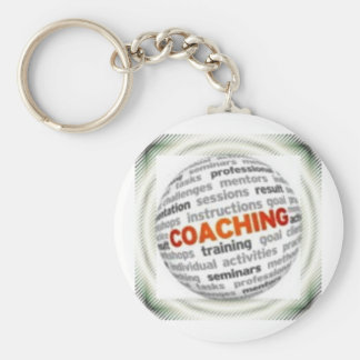 Small Button Coaching Keychain #12