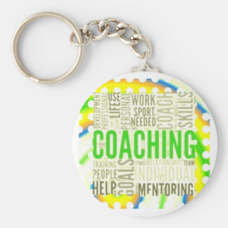 Small Button Coaching Keychain #5