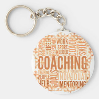 Small Button Coaching Keychain #8