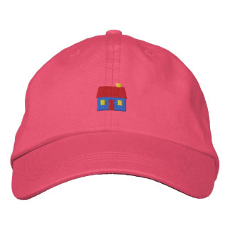 Small Cabin Embroidered Baseball Cap