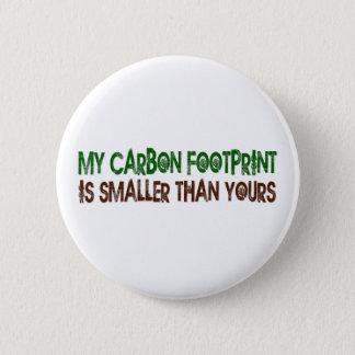 Small Carbon Footprint Pinback Button
