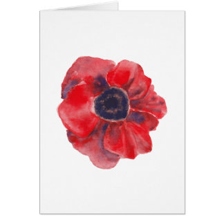 Small Card - Poppy Watercolor