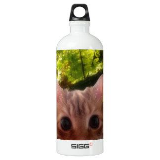 small cat design aluminum water bottle