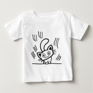 Small cat scratches shirt