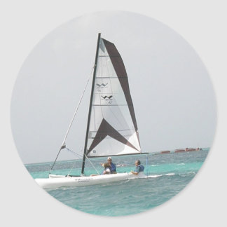 Small Catamaran Sailboat Sticker