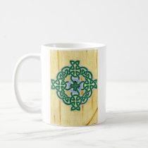 Small Celtic Cross (combo) mug (left)