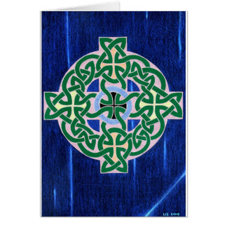 Small Celtic Cross (negative) card