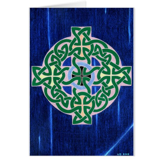 Small Celtic Cross (negative) card