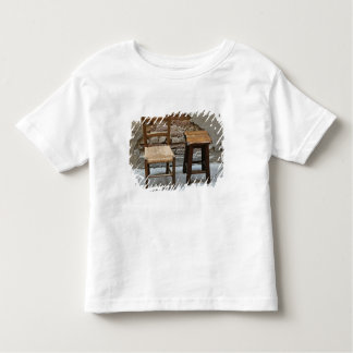 Small chair and stool, Pienza, Italy T Shirt