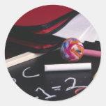 Small Chalkboard Round Sticker
