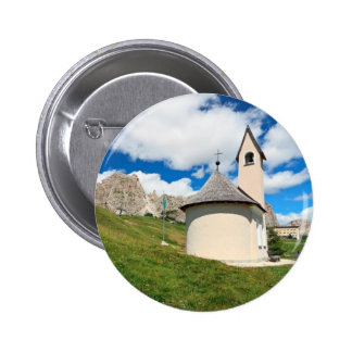 small chapel in Dolomites Pinback Button
