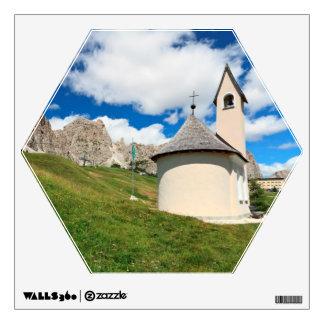 small chapel in Dolomites Wall Sticker