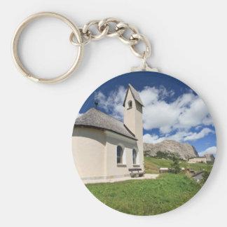 small chapel in Gardena pass Keychain