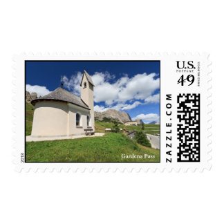 small chapel in Gardena pass Postage