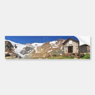 small chapel in Stelvio National park Bumper Sticker