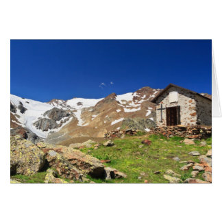 small chapel in Stelvio National park Card