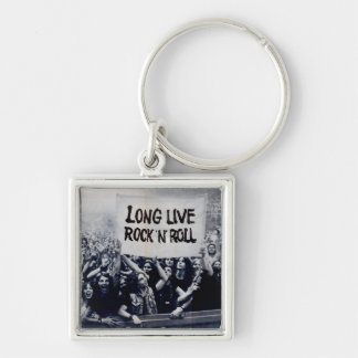 "Small Chaveiro squared ""Long Live Rock N Roll "" Keychain"