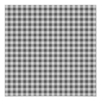 Small Checkers Pattern 1 - Black & White Card