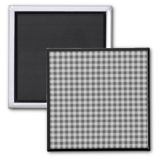 Small Checkers Pattern 1 - Black & White Magnet