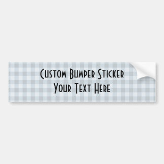 Small Checkers Pattern 1 - Blue Bumper Sticker