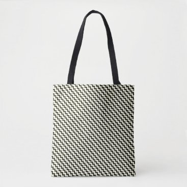 Beach Themed Small chevron pattern black and cream tote bag